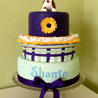 English Bulldog Cake Topper The girl who wanted this cake wanted an English bulldog on top of the cake. The cake is vanilla with buttercream filling. All cakes are...