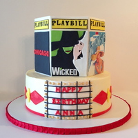 Broadway Cake I made this cake for a sweet sixteen party. The girl loves broadway and these were 3 of her top 3 broadway shows. The bottom tier is 10&...