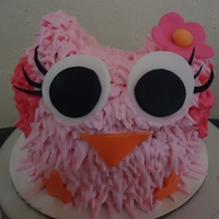 Owl Smash Cake   Owl Smash cake for my niece's 1st Birthday