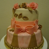 Pink And Brown Cake