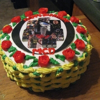 "2012 Rose Bowl I've been taking the Wilton classes and this is the first cake I ""designed"". This was for my son's birthday. He is a..."