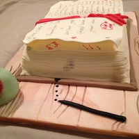 This Was My Grandsons Teachers Cake As A Leaving Gift At The End Of Term Madeira Cake Covered With Cream Fondant With A Few Extra Pages Of... This was my grandsons teachers cake as a leaving gift at the end of term. Madeira cake covered with cream fondant with a few extra pages of...
