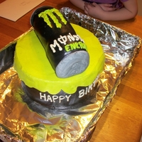 Monster Birthday Fondant Can..Everything else is buttercream..
