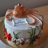 Octopus Birthday Cake
