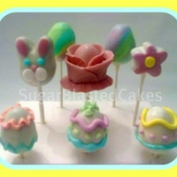Easter Cake Pops Made these cake pops over the weekend. Hand molded, filled with chocolate fudge, candy coated and decorated with candy melts and fondant...
