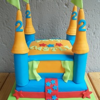 Jumping Castle Cake Jumping castle cake