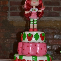 Strawberry Shortcake Birthday This is a cake I designed for my niece's First Birthday. It is all handmade marshmallow fondant.
