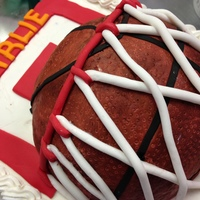 Basketball Cake Basketball cake. The cake itself is a 9X13 in chocolate. The basketball is RKT covered in fondant. I used Fondx Elite Pro Vanilla and...