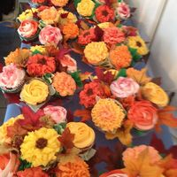 Cupcake Flower Bouquets For A Fall Wedding Cupcake flower bouquets for a fall wedding