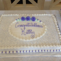 My Simple Goto Sheet Cake Design For Ladies This Was For A Retirement Party For A Lady Who Love Purple Ttfl My simple go=to sheet cake design for ladies. This was for a retirement party for a lady who love purple. TTFL.