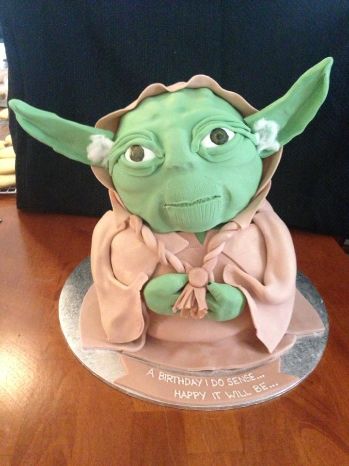 Yoda Yoda Cake. This is the first Star Wars cake i've ever attempted.