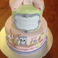 Owl Baby Shower Cake For A Little Girl X Owl Baby Shower cake for a little girl x
