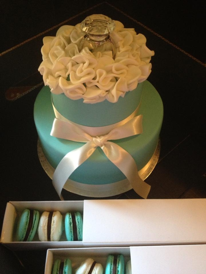 Tiffany Inspired Cake Tiffany inspired cake