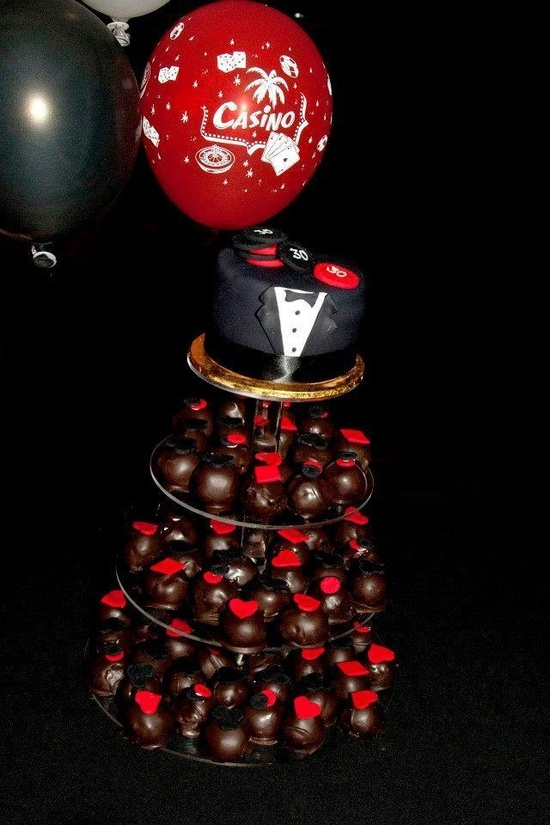 Casino Royal Themed Cake Ball Tower. Casino Royal themed Cake Ball Tower.