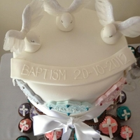 Baptism Cake For 3 Children