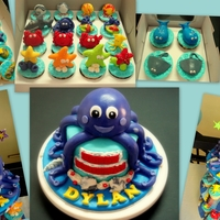 Octopus Under The Sea Cake & Cupcakes