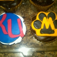 Ku Jayhawks Or Mizzou KU Jayhawks and Mizzou logos in fondant