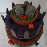 Tiered Halloween Cake Wedding anniversary cake for a Halloween party!