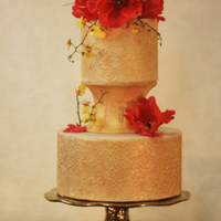Gold Inlaid Fondant Cake With Corset Middle By Connie Antin   Gold inlaid fondant cake with Corset middle By Connie Antin