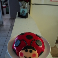 "Lady Bug this is my first cake ""my lady bug"""