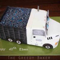 Truck Cake Created for the client's hubby who LOVES his tip truck!