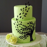 Green And Black Willow Tree