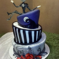 Nightmare Before Christmas A topsy turvy Nightmare Before Christmas cake. Jack is made from modeling chocolate.