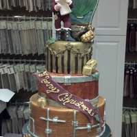 Steampunk Christmas Cake I Challenged Myself To Combine Steampunk And Christmas Into One Cake The Cake Is To Represent Santas Workshop Steampunk Christmas cake. I challenged myself to combine steampunk and Christmas into one cake. The cake is to represent Santa's...