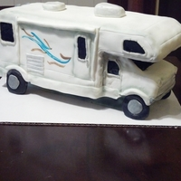 Rv Cake An RV cake made for a lady who was retiring and planned to travel the country