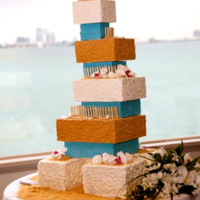 Beach Themed Wedding Cake   Beach themed wedding cake!