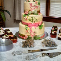 Cali Lily And Spring Flowers Cake