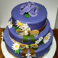 Purple And Camo Wedding Cake *