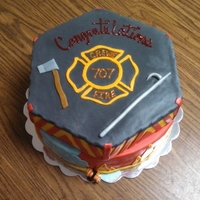 Fire Fighter Themed Cake