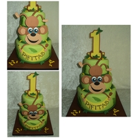 Monkey/bananas Cake