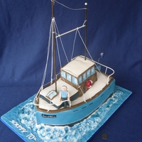 Yacht Cake Replica of owners' actual boat :)Rigging is not edible.