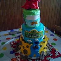 My Daughters First Birthday Cake My daughter's first birthday cake.