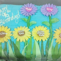 First Time With Fondant/gumpaste Flowers This was my first actual customer order that I got paid for and it was my first time making flowers from fondant/gumpaste. The cake was for...