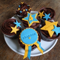 Rosette Birthday A 6 box fit for a little boy turning 4