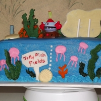 Birthday At Bikini Bottom  This is the back of Sponge bob cake This is a cake I did for a friends sons 4th birthday. Sponge Bob, Patrick, and Mr. Crab were from a...