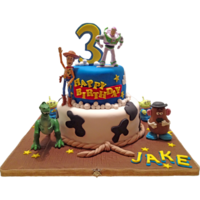 Disney Toy Story Birthday Cake Gumpaste Characters And Store Bought Characters Disney Toy Story Birthday cake, Gumpaste characters and store bought characters