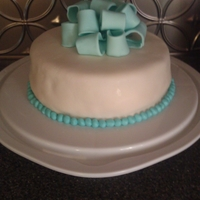 My First Fondant Cake! This is a wasc cake with marshmallow fondant. Its my first time making MMF and using it.