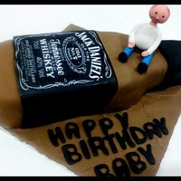Jack Daniel's Birthday Theme Cake Jack Daniel's Bithday theme Chocolate Cake