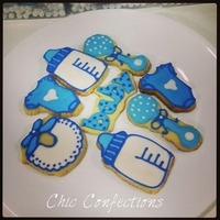 Baby Boy Announcement Cookies Baby Boy Announcement Sugar Cookies