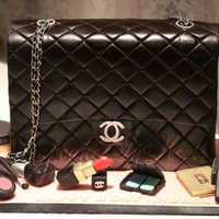 Chanel Black Lambskin Maxi Flap Bag Cake With Edible Makeups Chanel Black Lambskin Maxi Flap Bag cake with edible Chanel, Dior, Mac, YSL, Bobbi Brown, Nars and Laura Mercier makeups, and Chanel nail...