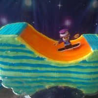 Skateboarding Cake Skateboarding cake made by Beth of our Santa Cruz County Chapter. A CASA advocate ordered this cake for a child in the foster system.