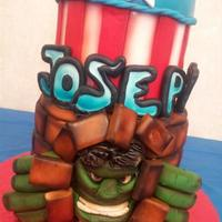 Incredible Hulk Cake Incredible Hulk Cake by Alissa for Birthday Cakes 4 Free.