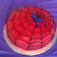 Spiderman Cake Spiderman cake made by Beth of our Santa Cruz County chapter for a foster child.