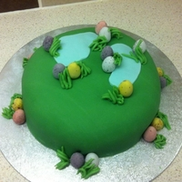 Easter Egg Hunt Cake! Sod the easter eggs, making a mini eggs easter cake is much more fun!