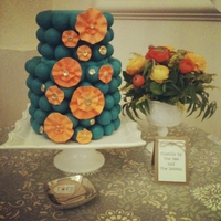 Teal And Orange Cake Ball Cake for a bridal show I did