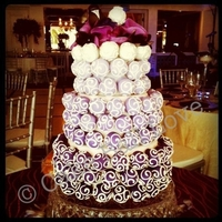 Purple Ombre Cake Ball Cake Ombre Cake Ball Cake for an awesome wedding in July 2011. This is still one of my favorite cakes I've done!